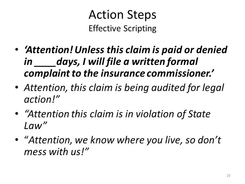 Action Steps Effective Scripting