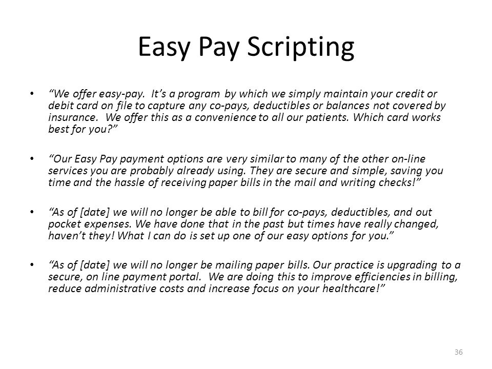 Easy Pay Scripting
