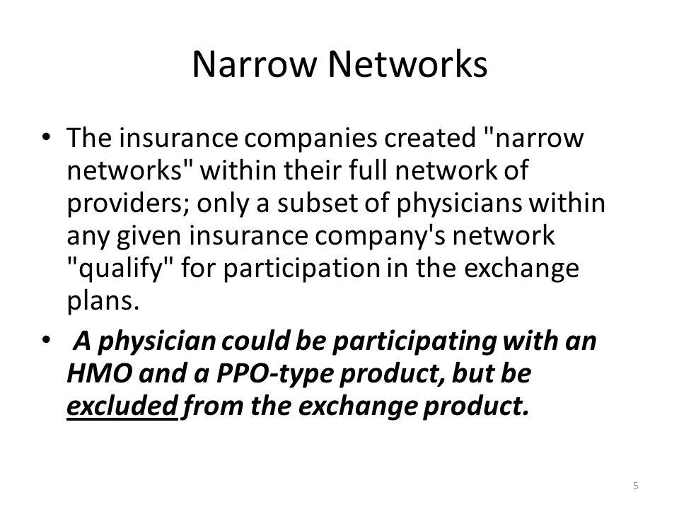 Narrow Networks