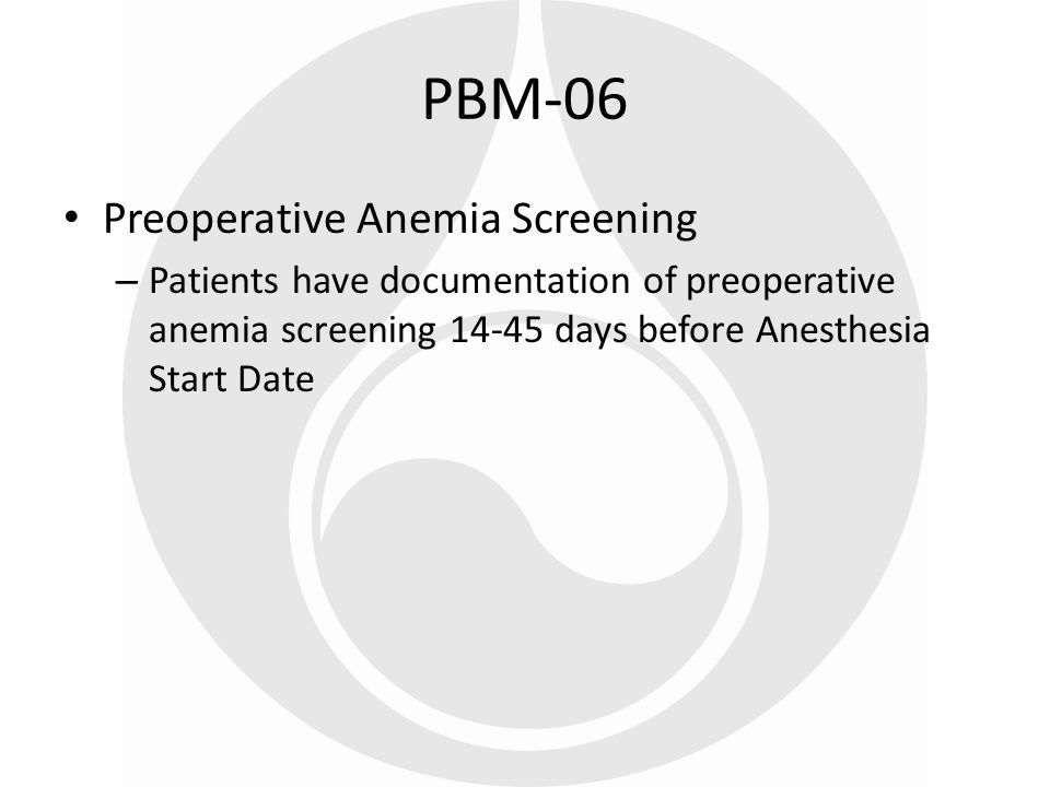 PBM-06 Preoperative Anemia Screening