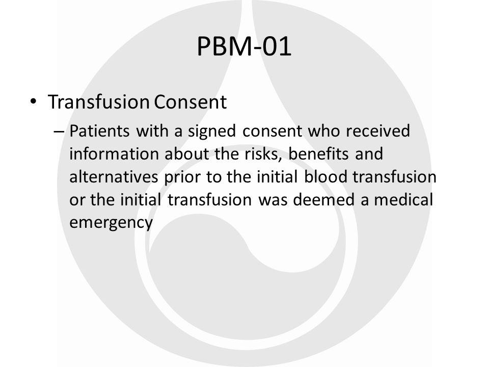 PBM-01 Transfusion Consent