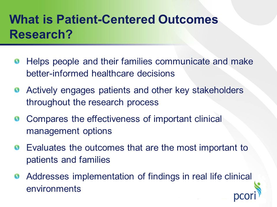 What is Patient-Centered Outcomes Research