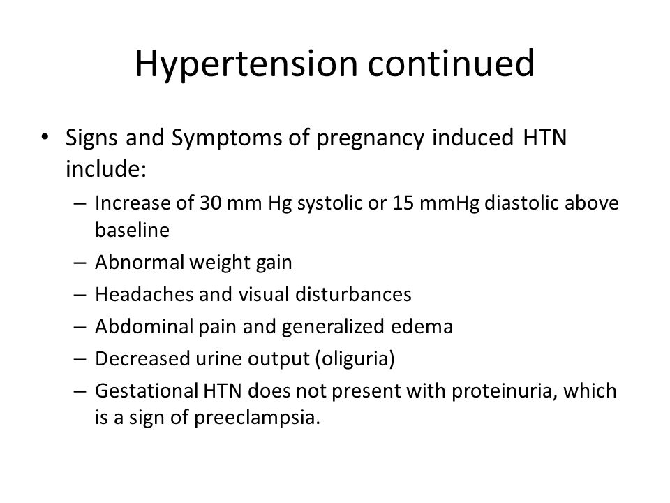 Hypertension continued