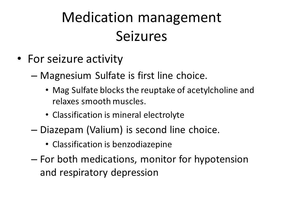 Medication management Seizures