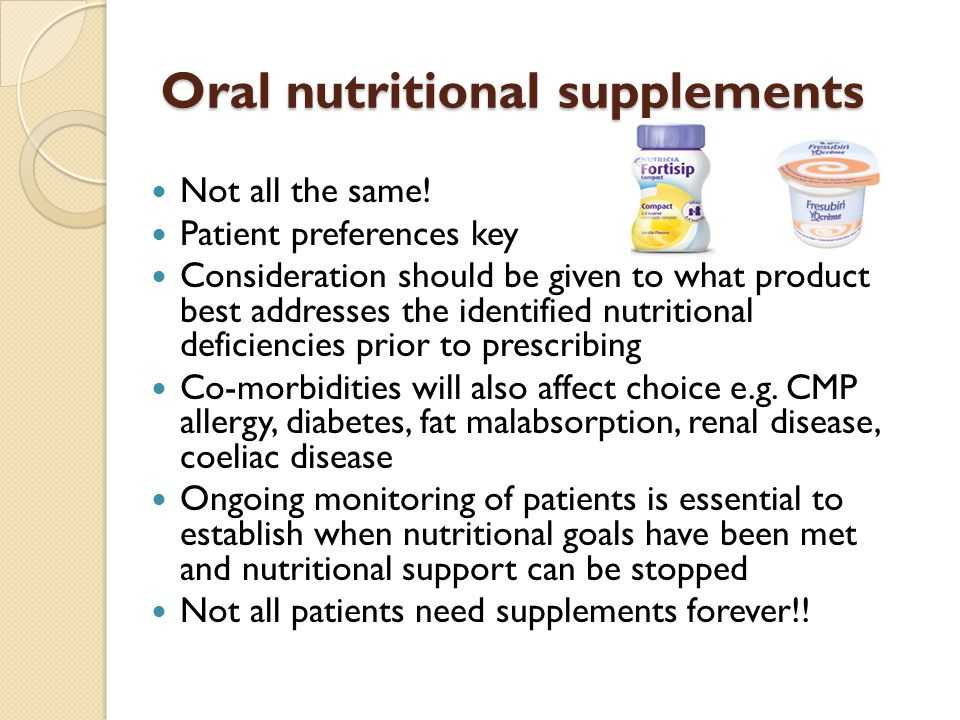 Oral Nutrition Supplements 13