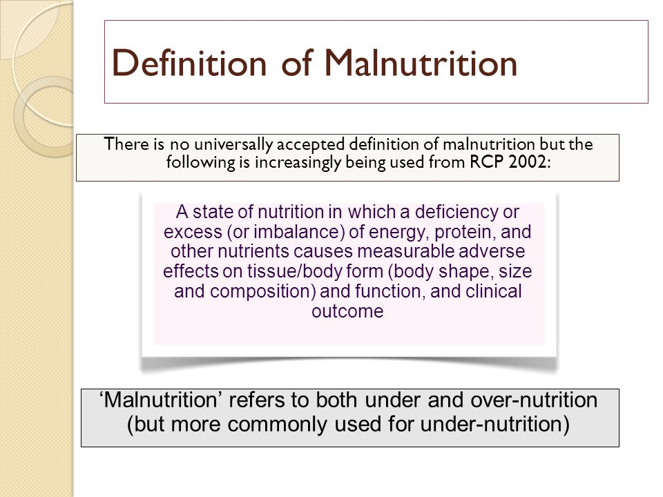 prevalence and documentation of malnutrition in 2 this healthcare cost and utilization project (hcup) statistical brief presents national estimates on the characteristics of malnutrition reported during nonmaternal and nonneonatal hospital inpatient stays in.