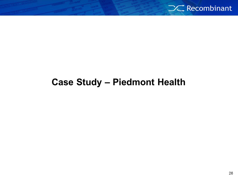 Case Study – Piedmont Health