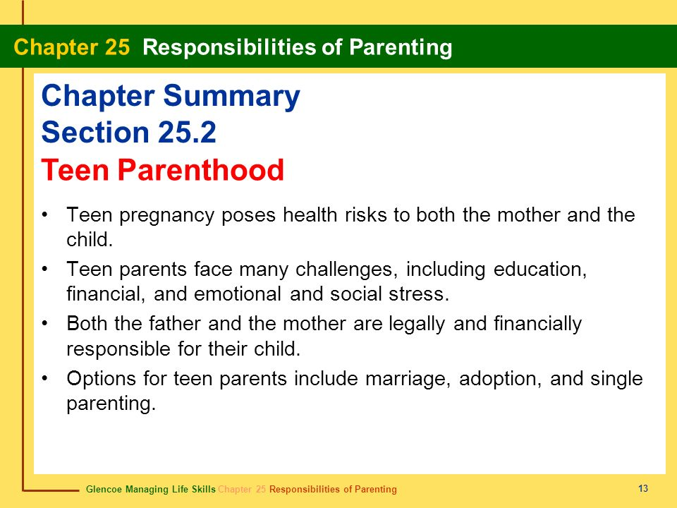 Chapter Summary Section 25.2