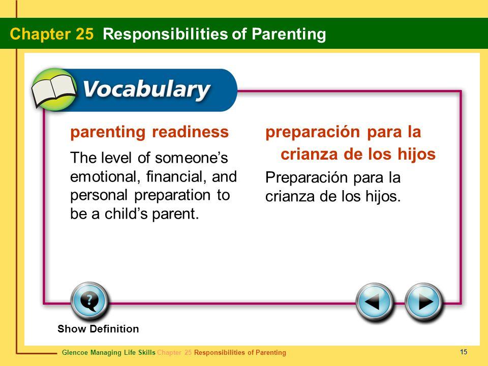 preparación para la crianza de los hijos