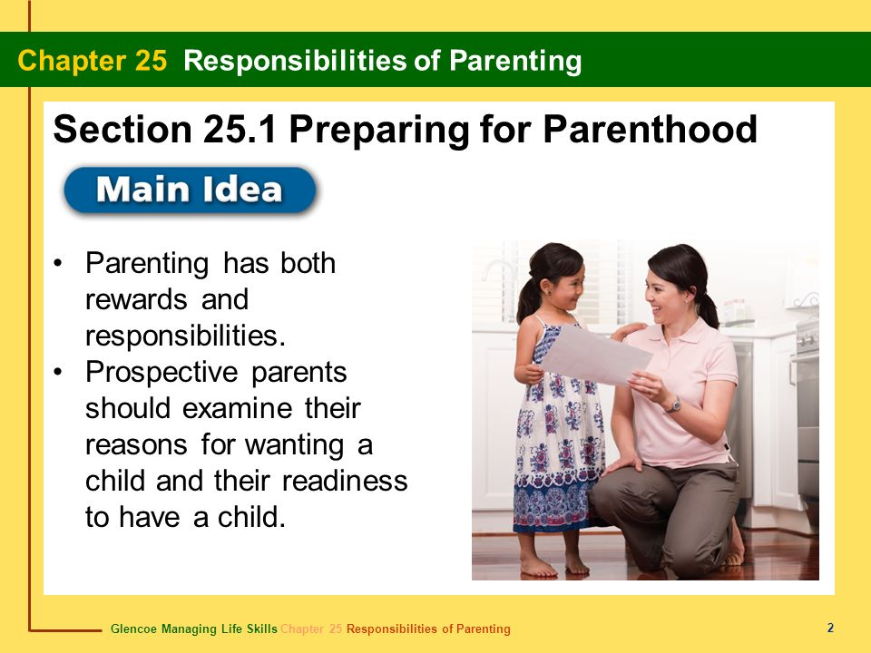 Section 25.1 Preparing for Parenthood