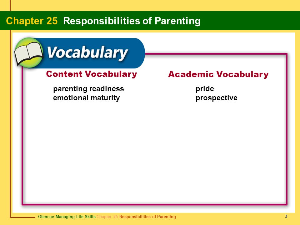 Content Vocabulary Academic Vocabulary parenting readiness