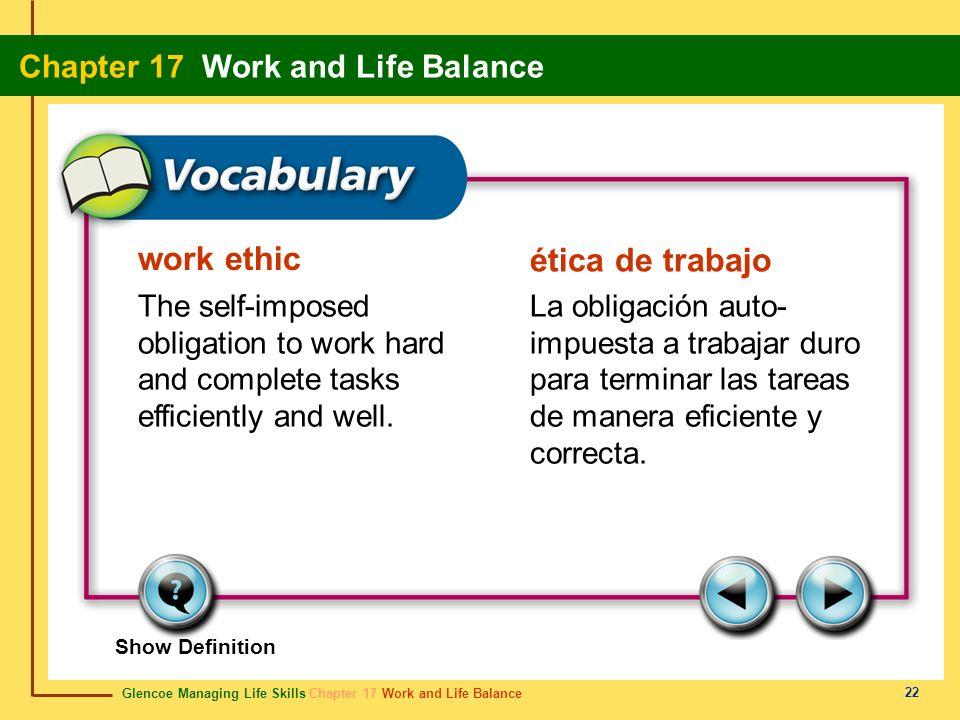 work ethic ética de trabajo