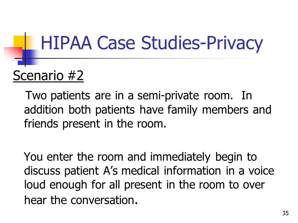 HIPAA Case Studies-Privacy