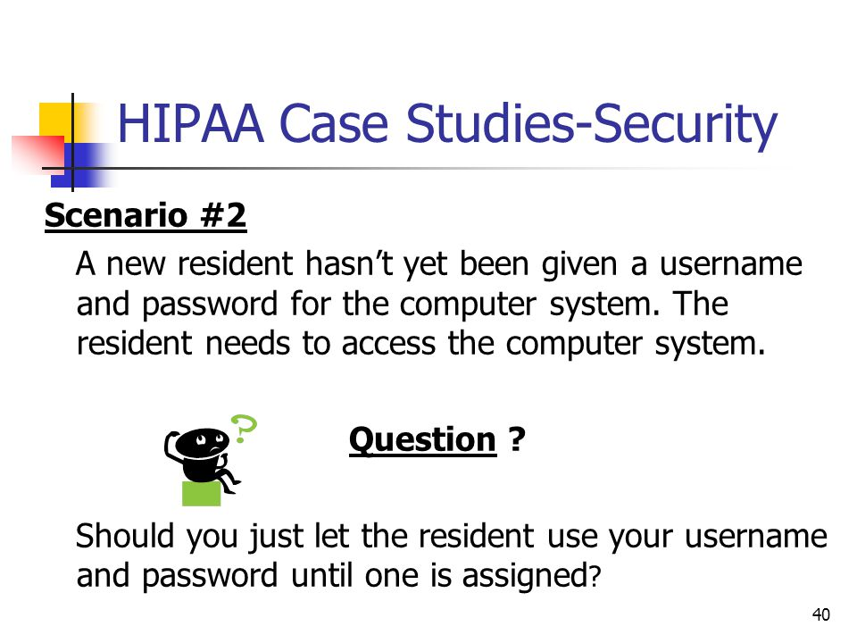 HIPAA Case Studies-Security