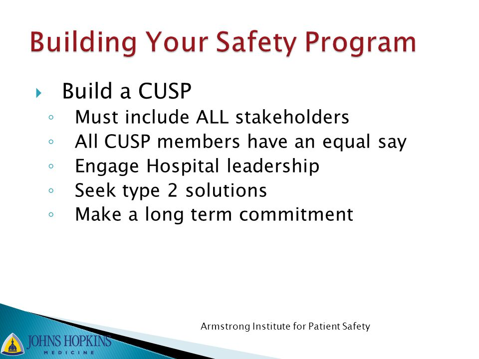 Building Your Safety Program