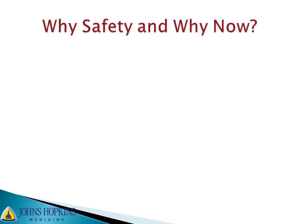 Why Safety and Why Now
