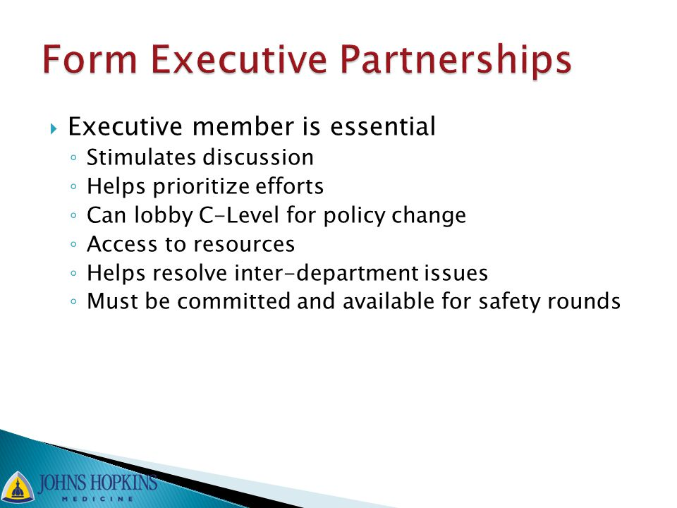 Form Executive Partnerships