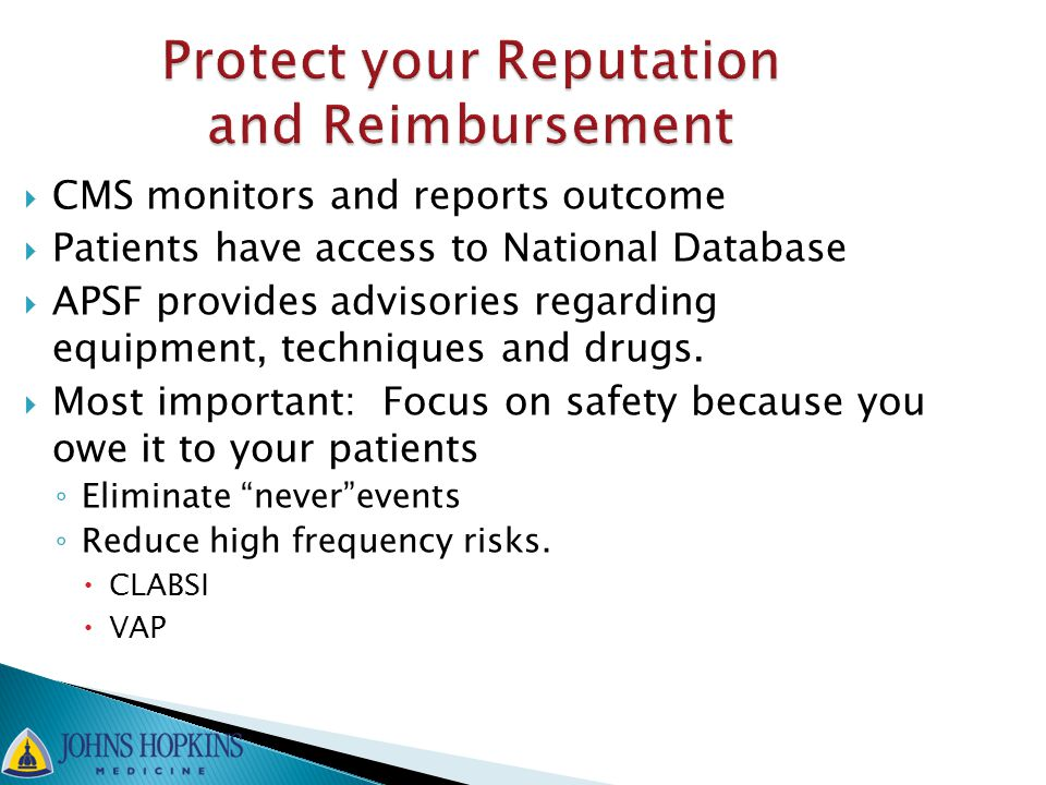Protect your Reputation and Reimbursement
