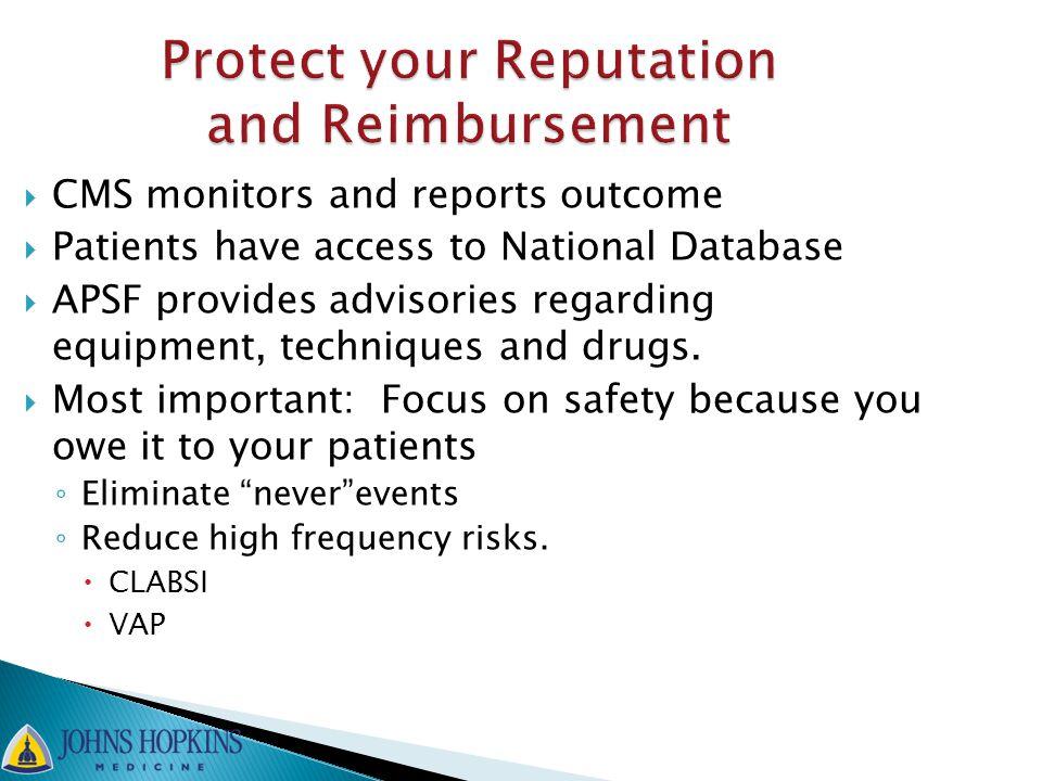 Protect your Reputation and Reimbursement