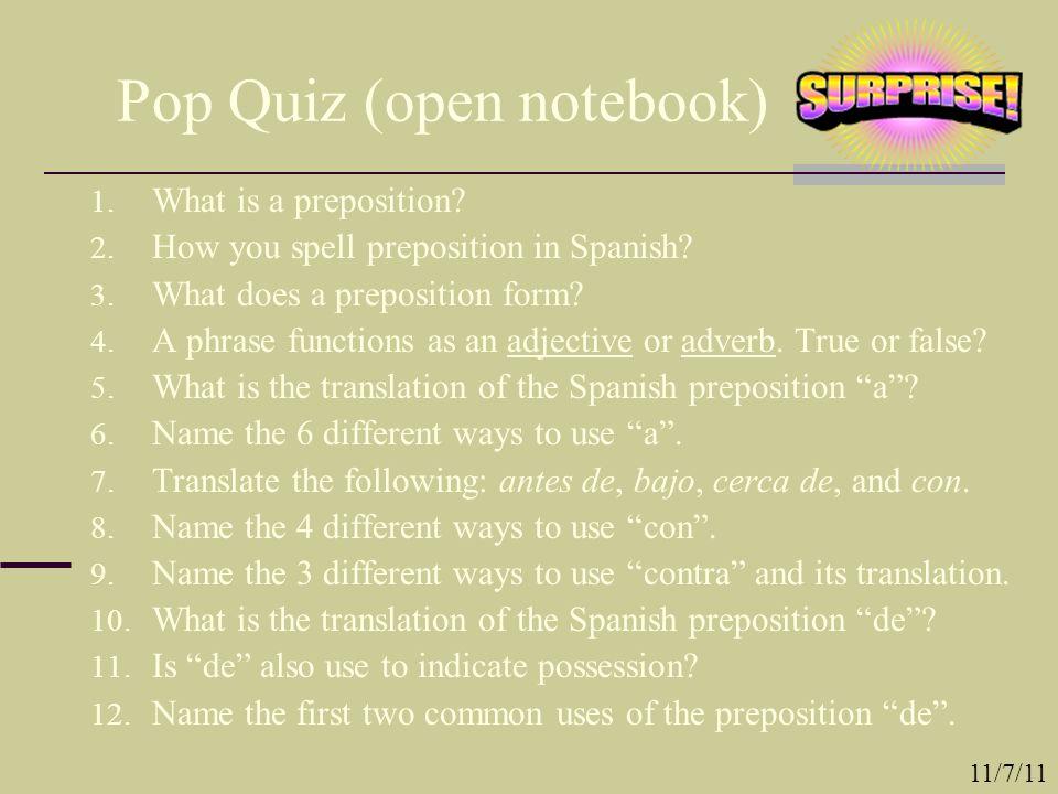 Pop Quiz (open notebook)