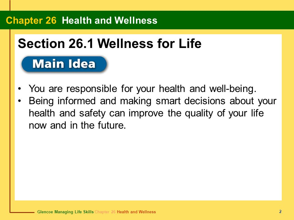 Section 26.1 Wellness for Life