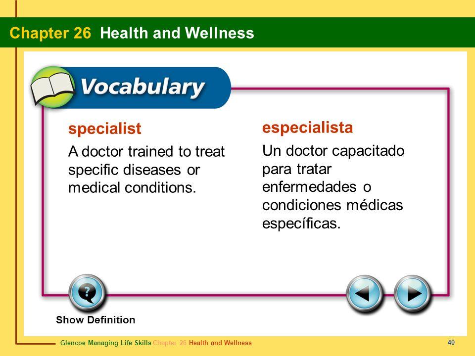 specialist especialista