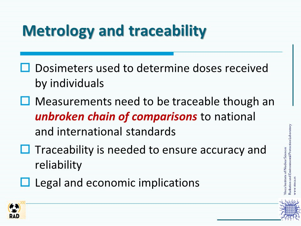 Metrology and traceability