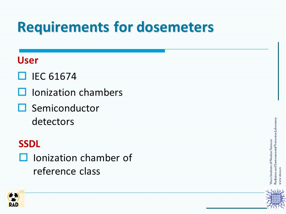 Requirements for dosemeters