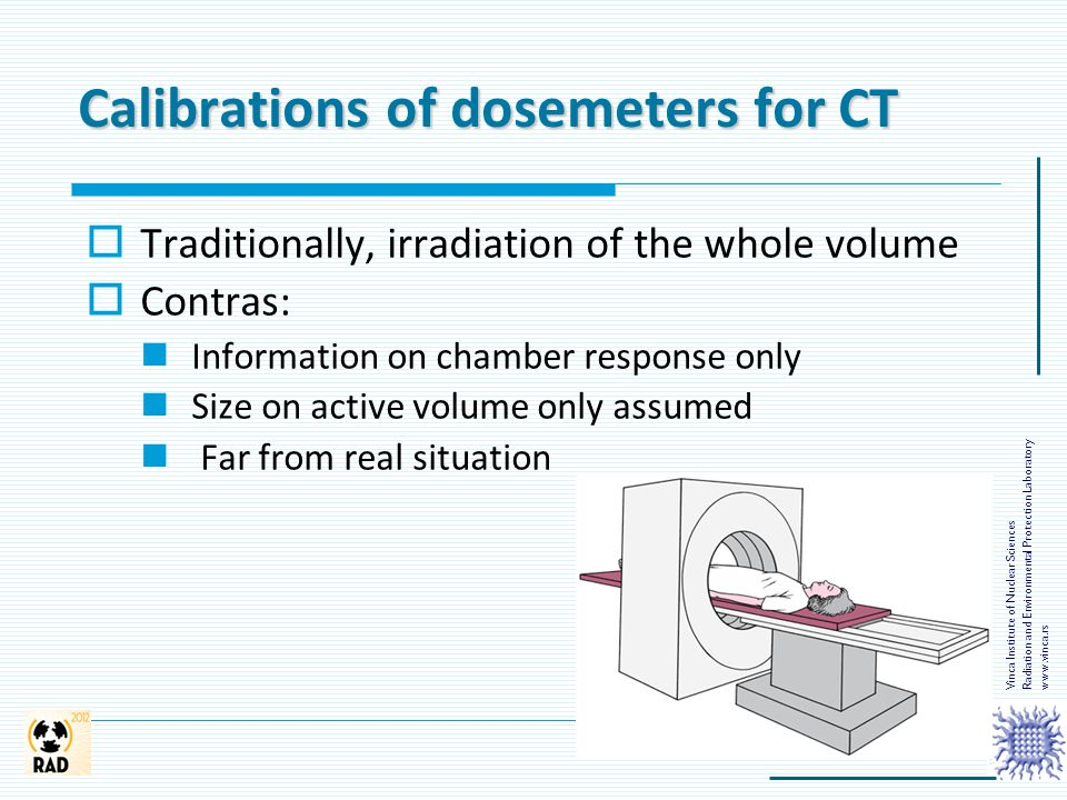 Calibrations of dosemeters for CT