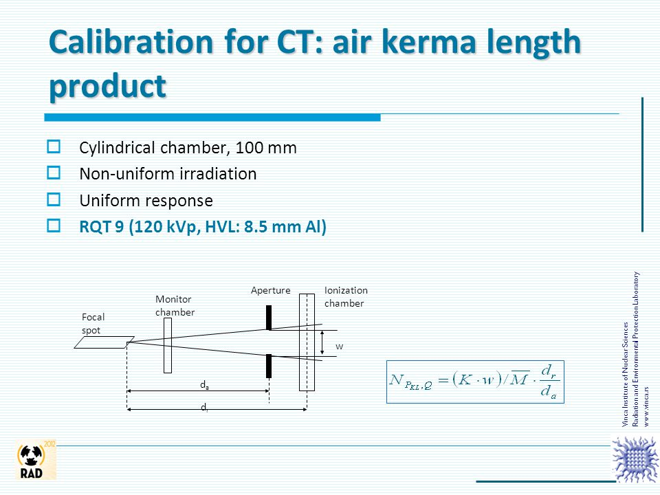 Calibration for CT: air kerma length product