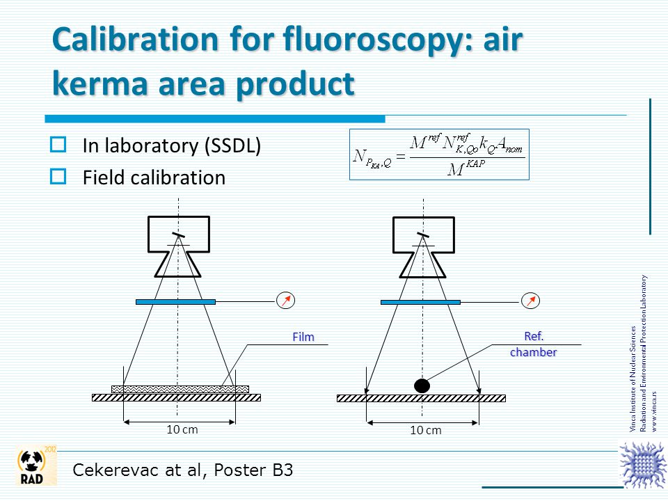 Calibration for fluoroscopy: air kerma area product
