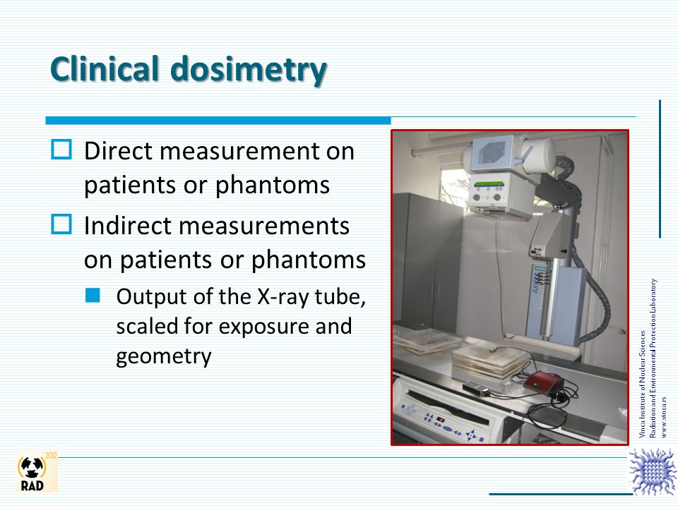 Clinical dosimetry Direct measurement on patients or phantoms