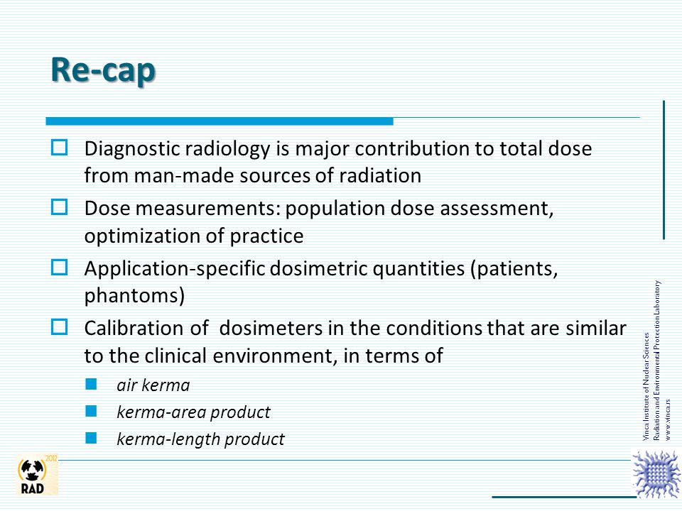 Re-cap Radiation and Environmental Protection Laboratory. Vinca Institute of Nuclear Sciences. www.vinca.rs.
