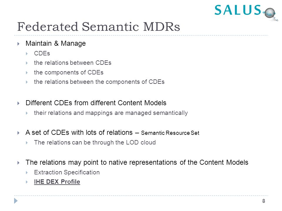 Federated Semantic MDRs