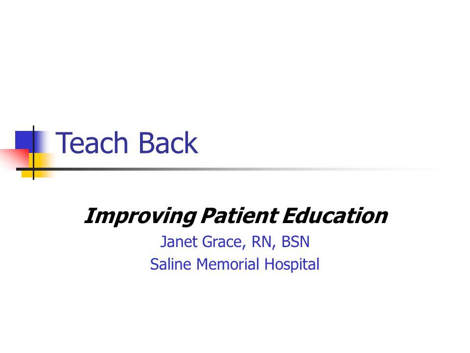 Improving Patient Education