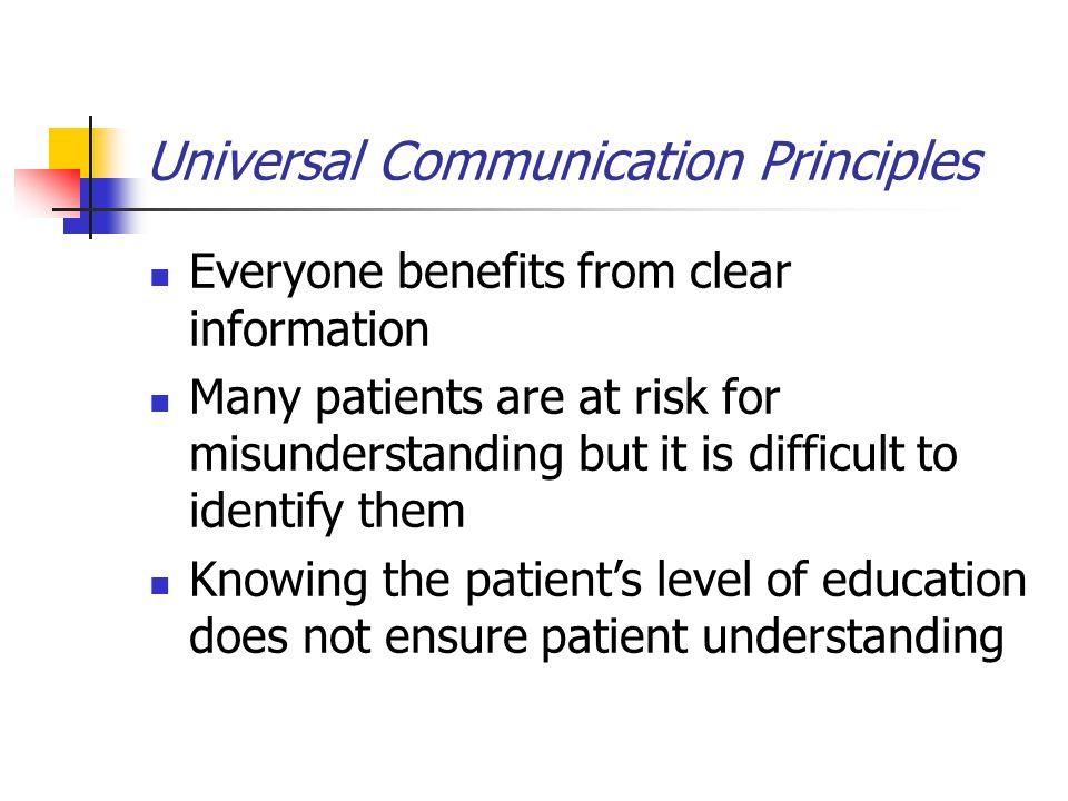 Universal Communication Principles