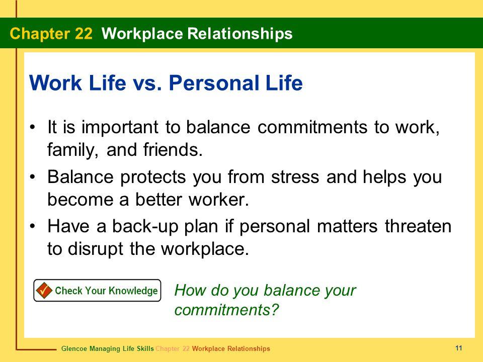 Work Life vs. Personal Life