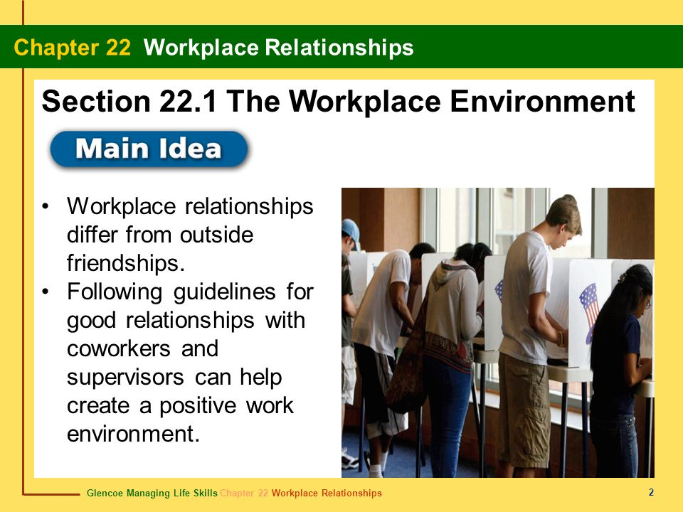 Section 22.1 The Workplace Environment