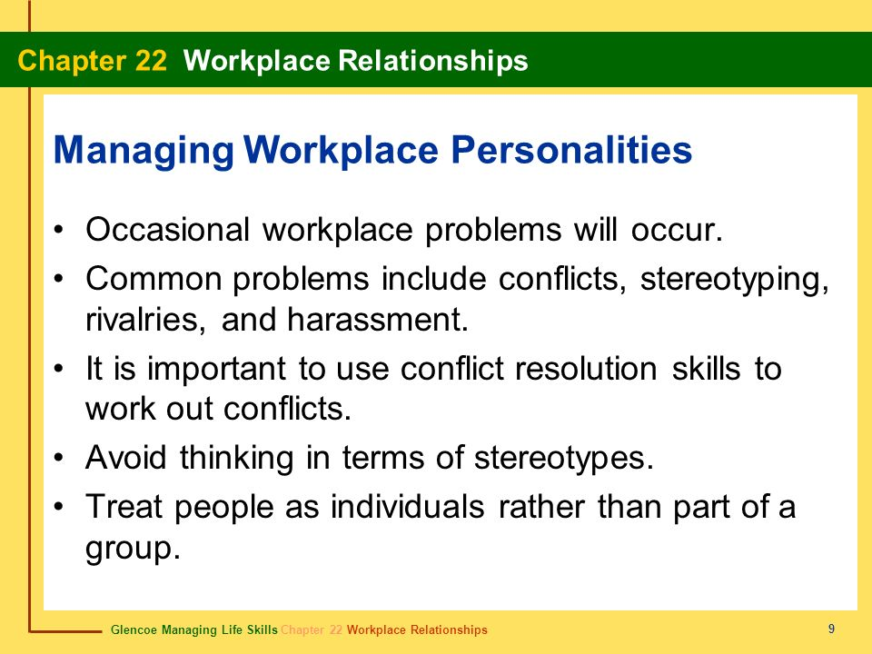 Managing Workplace Personalities