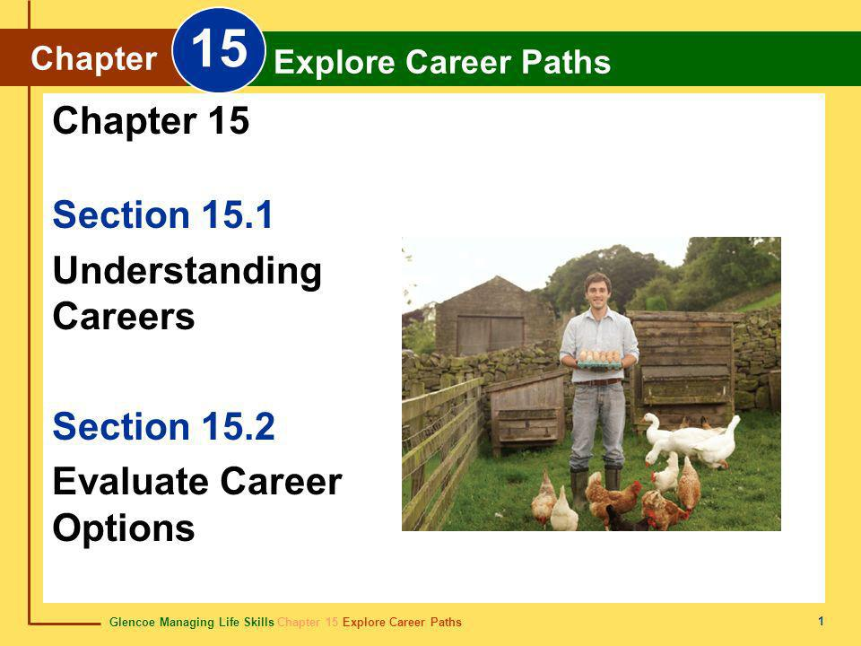 15 Chapter 15 Section 15.1 Understanding Careers Section 15.2