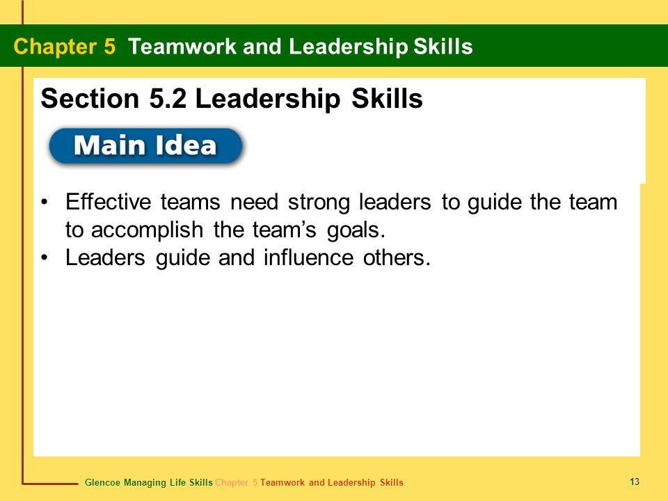Section 5.2 Leadership Skills