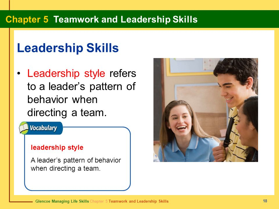 Leadership Skills Leadership style refers to a leader's pattern of behavior when directing a team. leadership style.