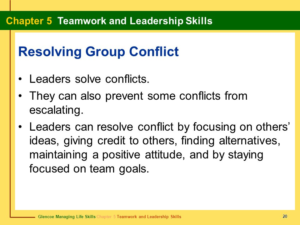 Resolving Group Conflict