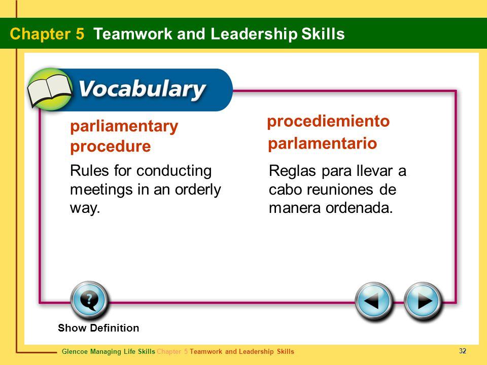 procediemiento parlamentario parliamentary procedure