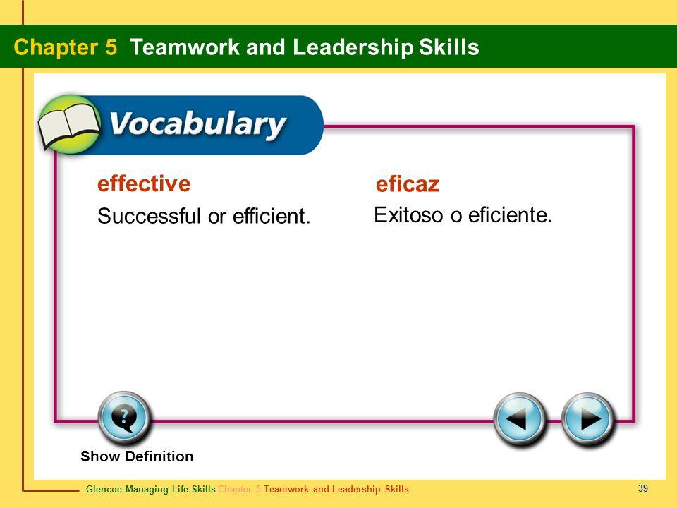effective Successful or efficient. Exitoso o eficiente. eficaz