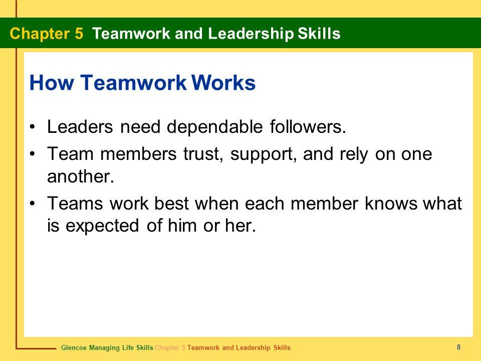How Teamwork Works Leaders need dependable followers.