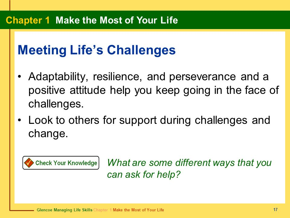 Meeting Life's Challenges
