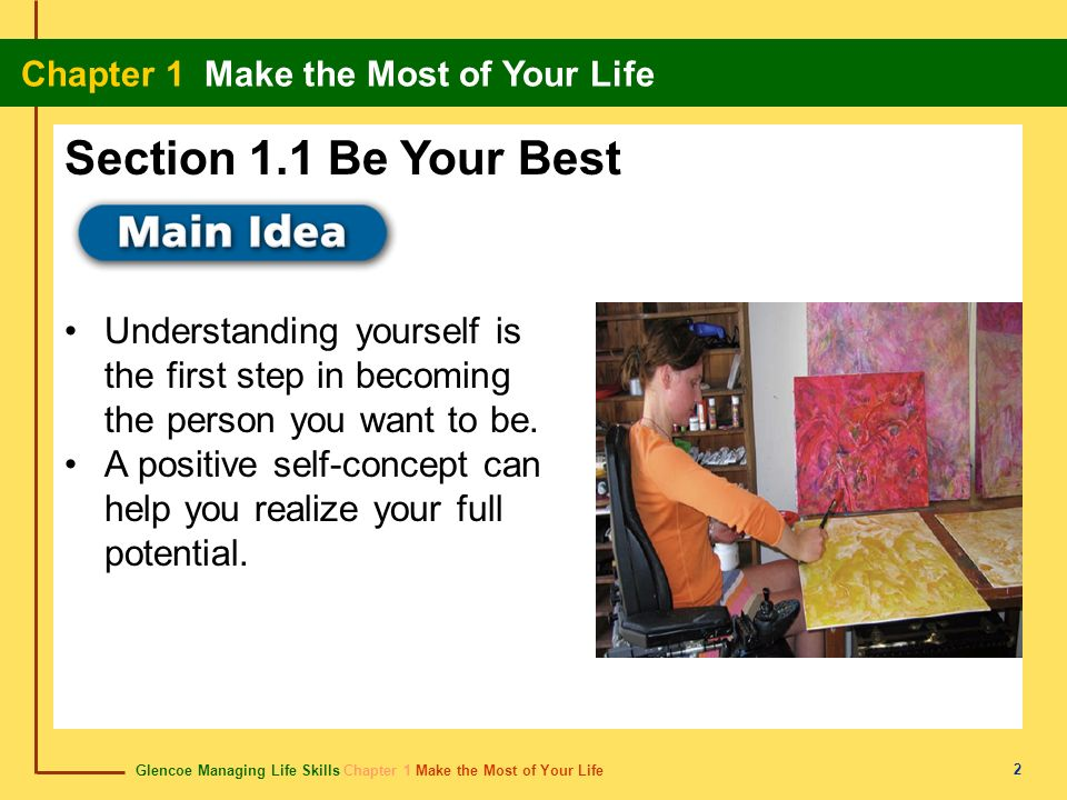 Section 1.1 Be Your Best Understanding yourself is