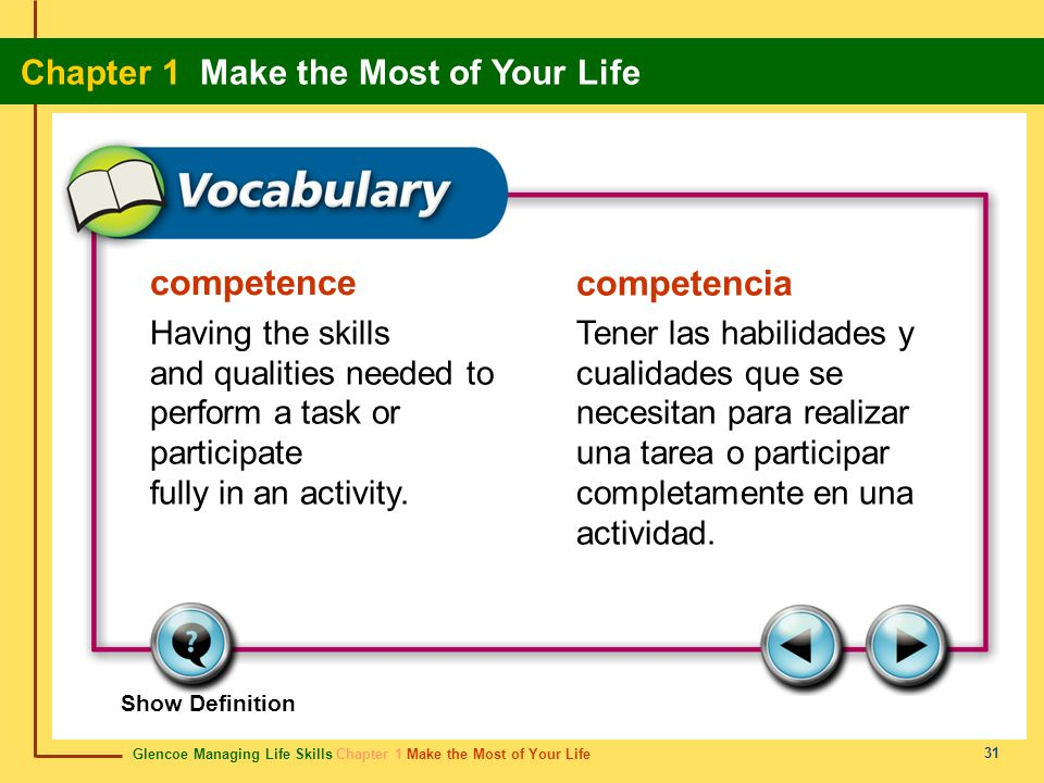 competence competencia Having the skills