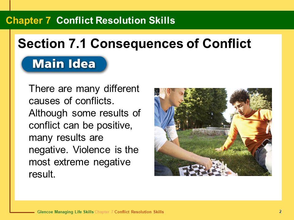 Section 7.1 Consequences of Conflict